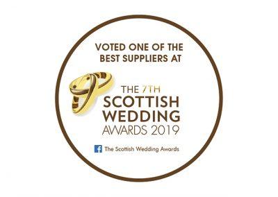 Vote for Us Badge – Scottish Wedding Awards 2019