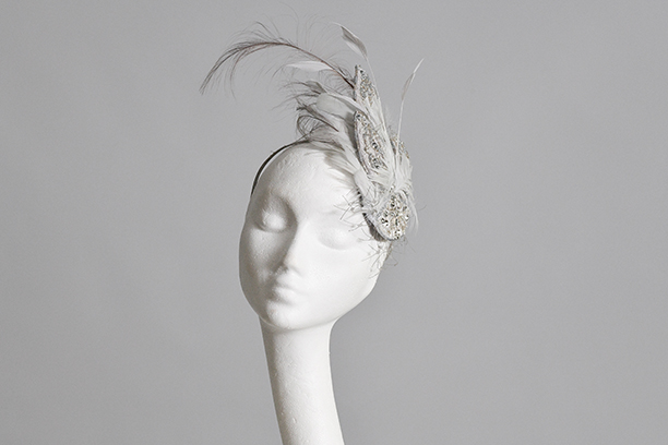 Silver Crystal Fascinator
