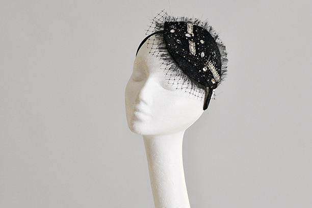Starry Eyed Black Cocktail Fascinator