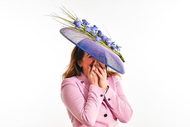 Purple gradiated Scottish Harebell Hat