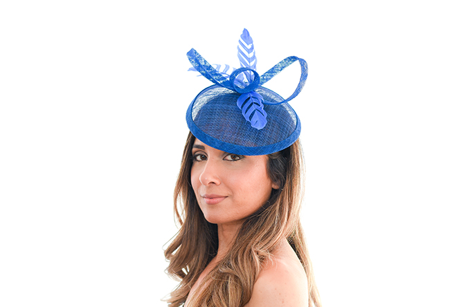 Royal Blue Ribbon Hat