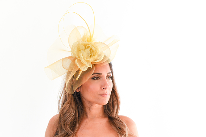 Golden Yellow Fascinator