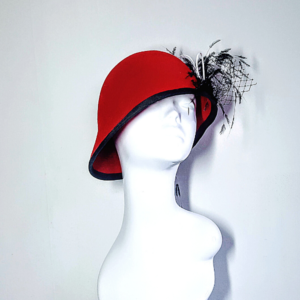 Vintage inspired Red Cloche